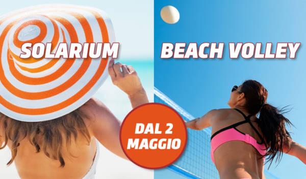 Apertura del solarium & campo da beach volley